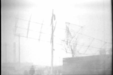 The Airship Dirigible Roma Crashes In 1922 stock footage
