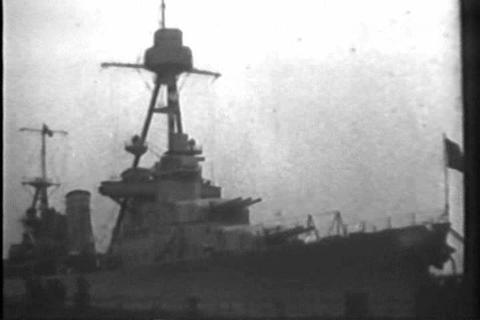 Navy orders new warships in 1929 Footage