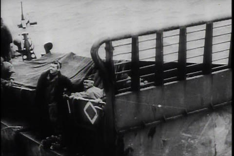 The invasion of Normandy in World War two Footage