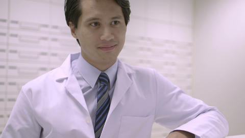 Pharmacist In Pharmacy stock footage