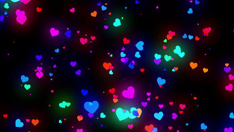 Loopable Shooting Heart colorful HD Animation