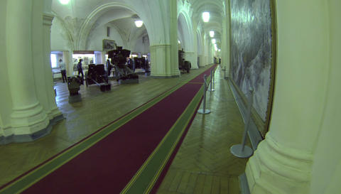 Corridor of the artillery Museum 2.7K Footage