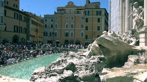 Trevi Fountain Is The Largest Baroque Fountain In  stock footage