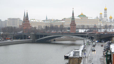 MOSCOW, RUSSIA - December 22: Winter view of the M Footage