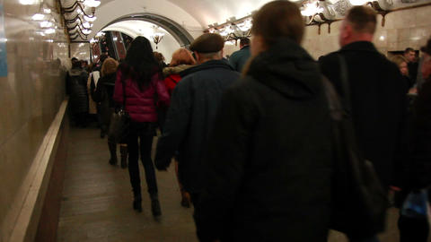 Crowd Of People. Subway stock footage
