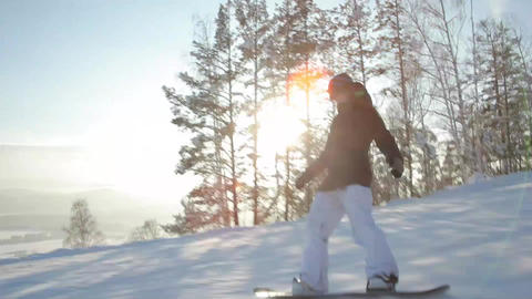 Follow Shot: Snowboarder Live Action