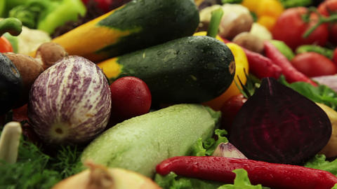 Variety Of Vegetables stock footage