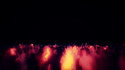 Dancing Crowd Of People Animation Stock Footage CG動画素材