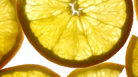 Juicy Orange Slice stock footage