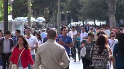 Shopping Street And Crowd In Baku stock footage