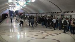 Baku subway metro Footage