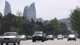 Baku Traffic, Azerbaijan stock footage