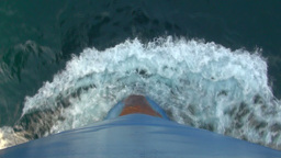 Crashing waves on the bow of a cargo vessel Footage