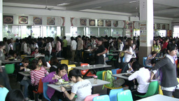 China, School Cafetaria, University, Canteen, Eati stock footage