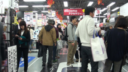 Electronics store in Japan Footage