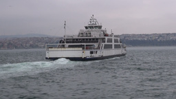 Ferry sails over Bosphorus in Istanbul Footage