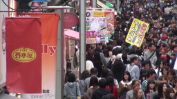 Crowded busy shopping street in Japan Footage
