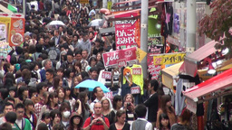 Youth are shopping in busy alley in Harajuku, Toky Footage