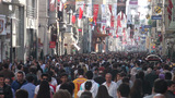 Shopping street in Istanbul Footage