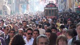 Busy shopping street in Istanbul Turkey Footage