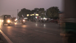 Lahore traffic at dusk, Pakistan road Footage