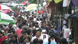Busy marketplace in China Footage