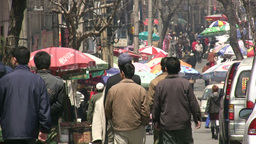Migrant workers day off, visiting the market, Chin Footage