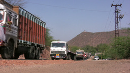 Military trucks in India Footage