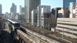 Tokyo monorail transportation, elevated railroad Footage