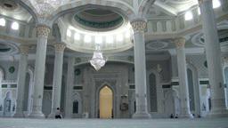 Praying in Astana mosque, Kazakhstan Footage