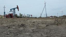 Dry oil field Footage