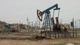Oil field and pumpjacks in Azerbaijan Footage