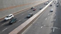 Busy road in Almaty Kazakhstan Footage