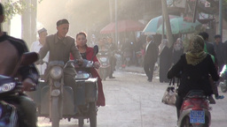 People in the streets of Kashgar Footage