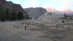 Playground in remote setting in Pakistan Footage