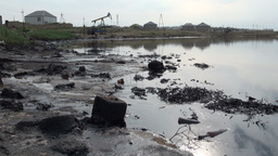 Polluted oil field Footage