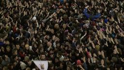 Large crowd in church in Georgia Caucasus Footage