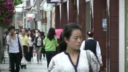 Shopping street in Shanghai China Footage