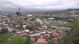 Skyline Tbilisi stock footage