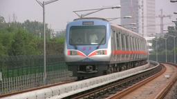 Subway arriving in Beijing Footage