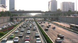 Traffic and metro in Beijing China Footage
