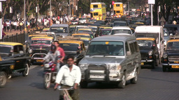Traffic in India Footage