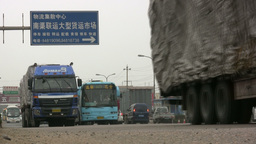 Traffic in backstreets China Footage