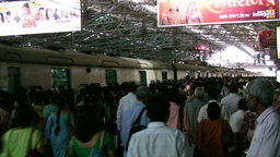 Train station in Mumbai Footage