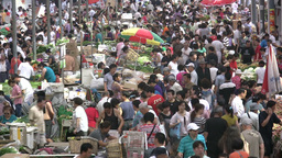 Vegetable market in China Footage