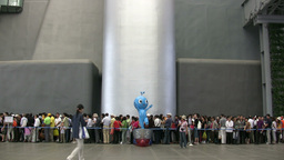 Waiting Line At The Expo In Shanghai stock footage