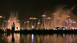 Water Fountain In China, At The Expo 2010 stock footage
