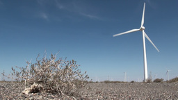 Windmill In The Desert stock footage