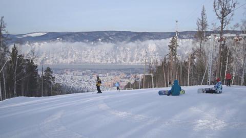 Divnogorsk Skiing 01 Footage