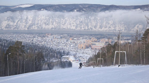 Divnogorsk Skiing 05 Footage